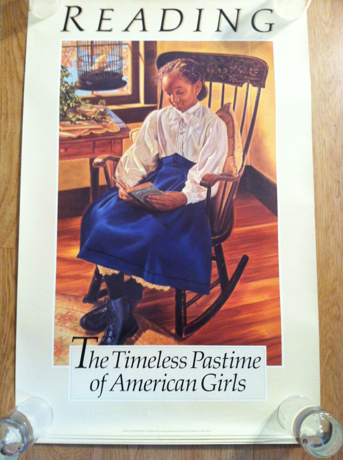 American Girl Pleasant Company Addy Reading Poster 34 x 22 Nice ...