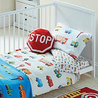 Transport themed toddler bedding set