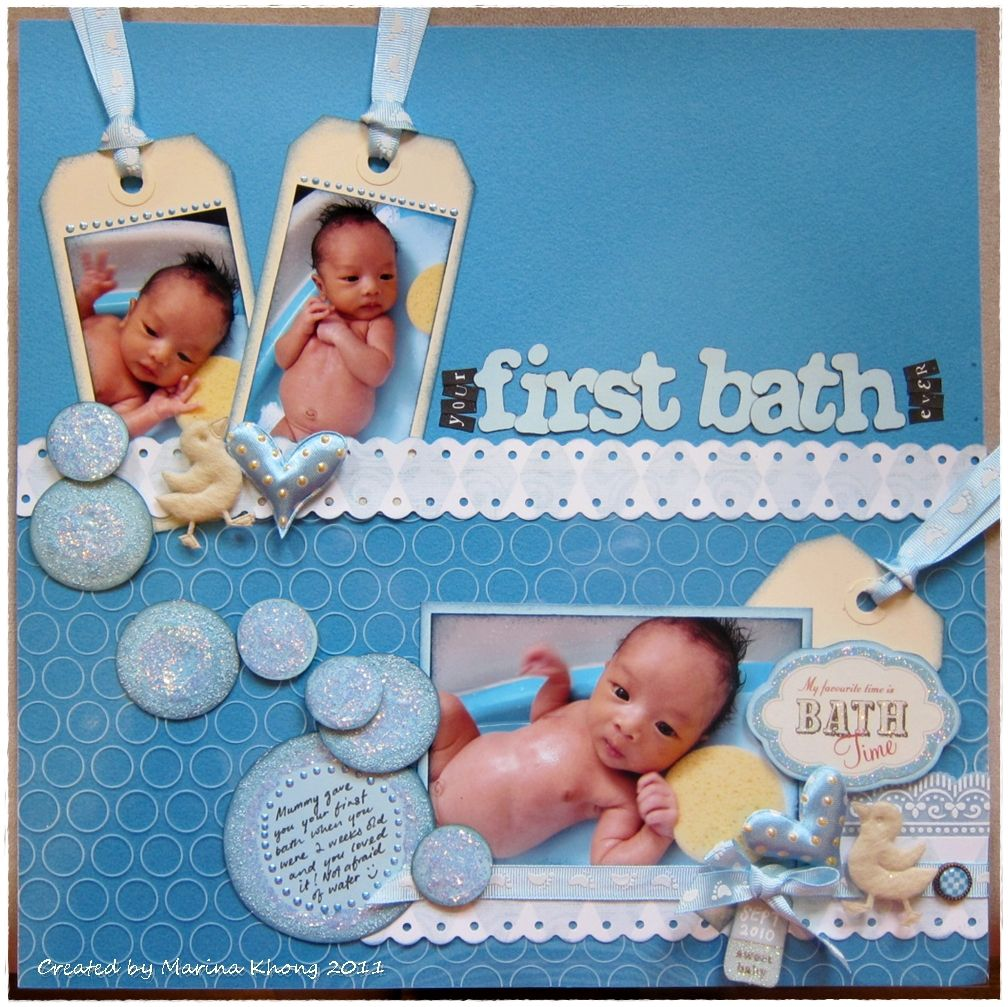 First bath page layout
