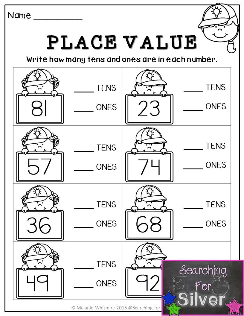 PLACE VALUE practice and other great printables for BACK