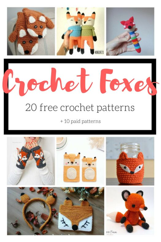 Crochet Fox Pattern Roundup | Pinterest