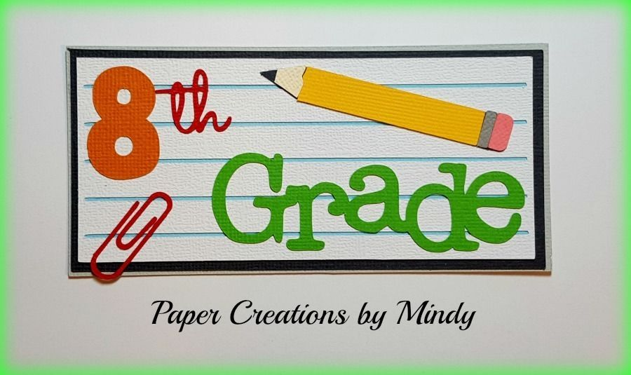 Craftecafe Mindy School grade boy girl title premade paper piecing for scrapbook #PaperCreationsbyMindy