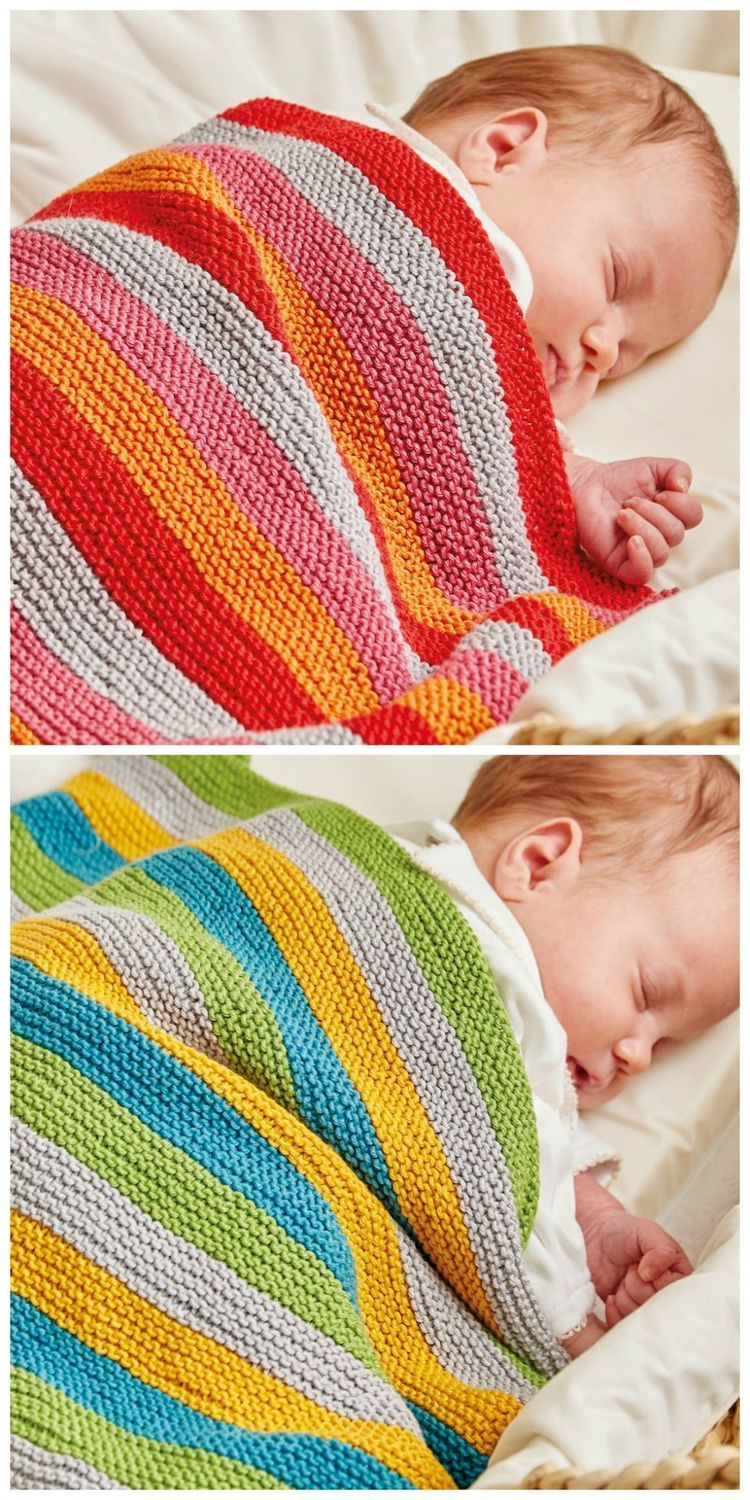 Knitted Nursery Collection: Ollie and Polly Blankets | Gestricktes ...