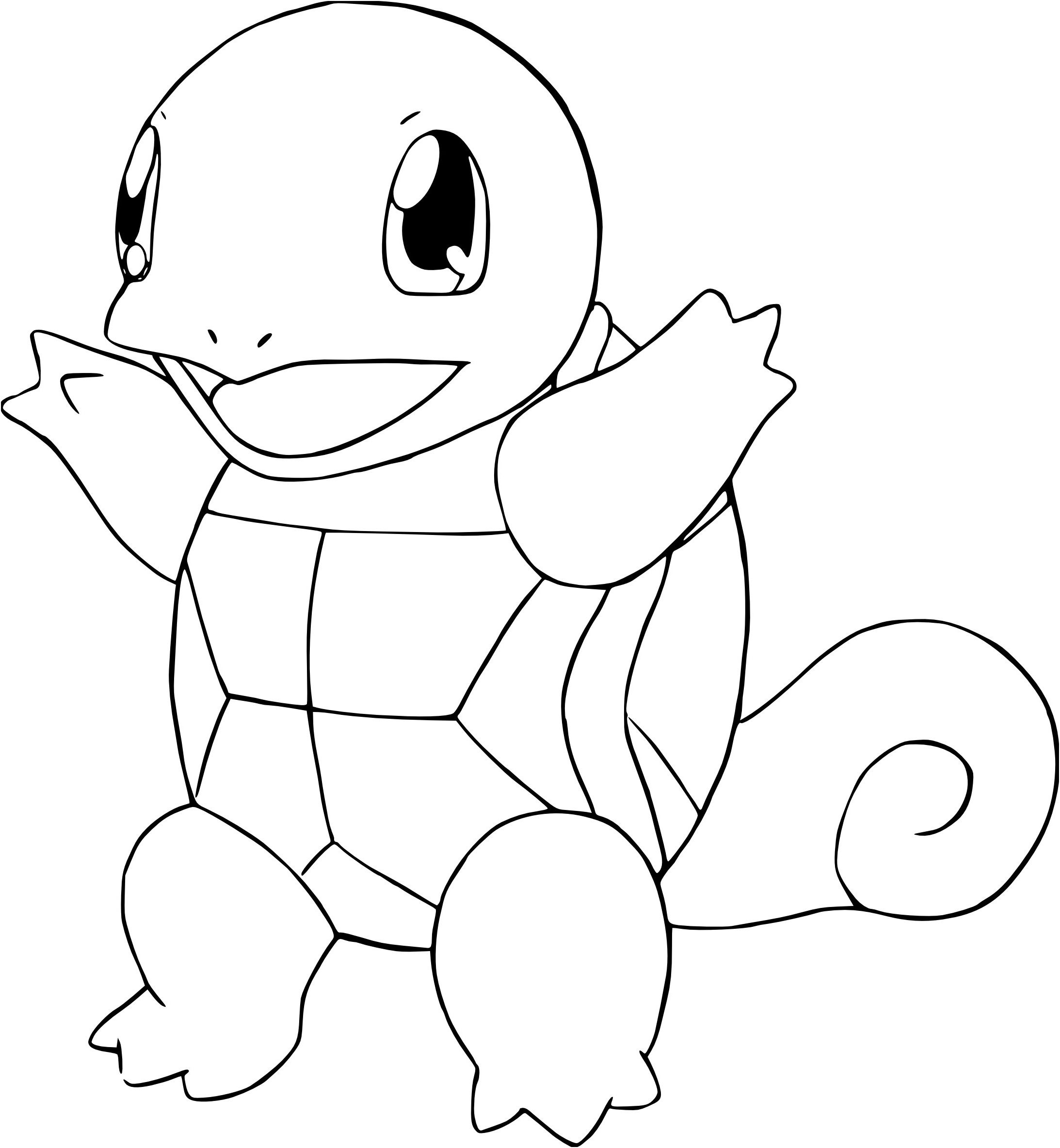 Coloriage Pokemon Carapuce