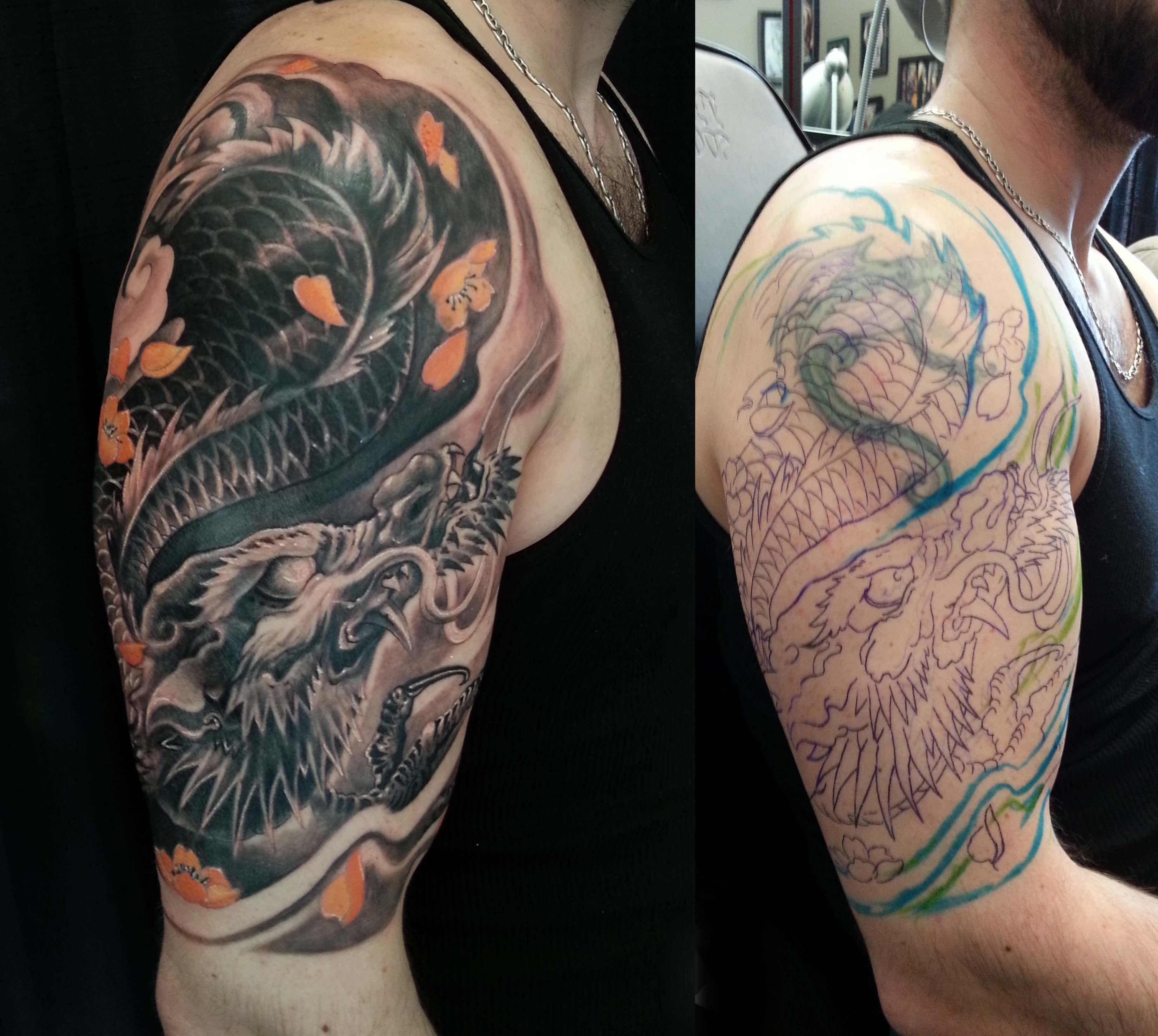Tattoo Sleeve Cover Tattoo cover sleeve, Cover tattoo