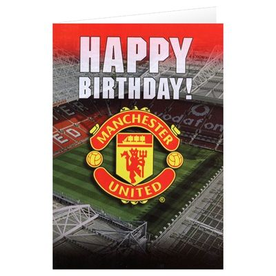 Manchester United Crest Birthday Card With Sound Manchester United Merchandise Birthday Cards Manchester United