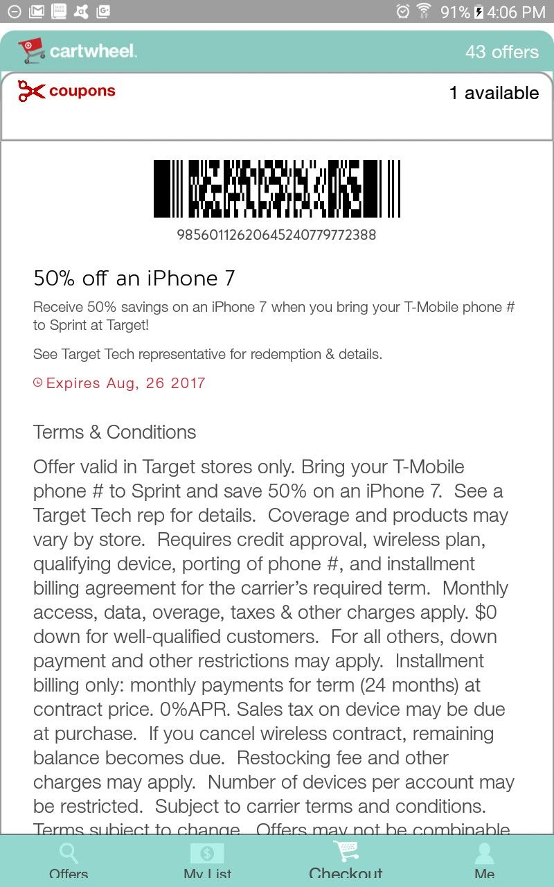 Pin by anna on paperless coupon savings sprint iphone