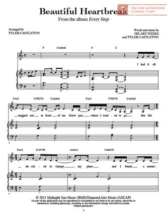 Beautiful Heartbreak (Sheet Music Download) | Musik