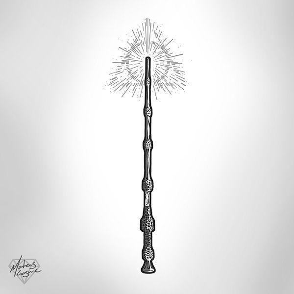 Elder Wand tattoo design