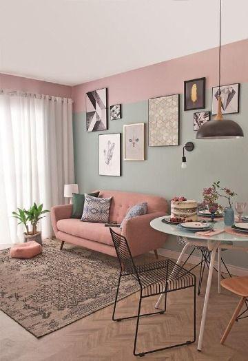 Comedores Y Salas Pintadas De Dos Colores 2019 En 2020 Decoracion De Interiores Salas Decoracion De Casas Pequenas Diseno De Interiores Salas