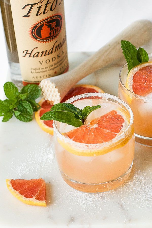 Salty Dog - Grapefruit Cocktail Recipe #cocktails