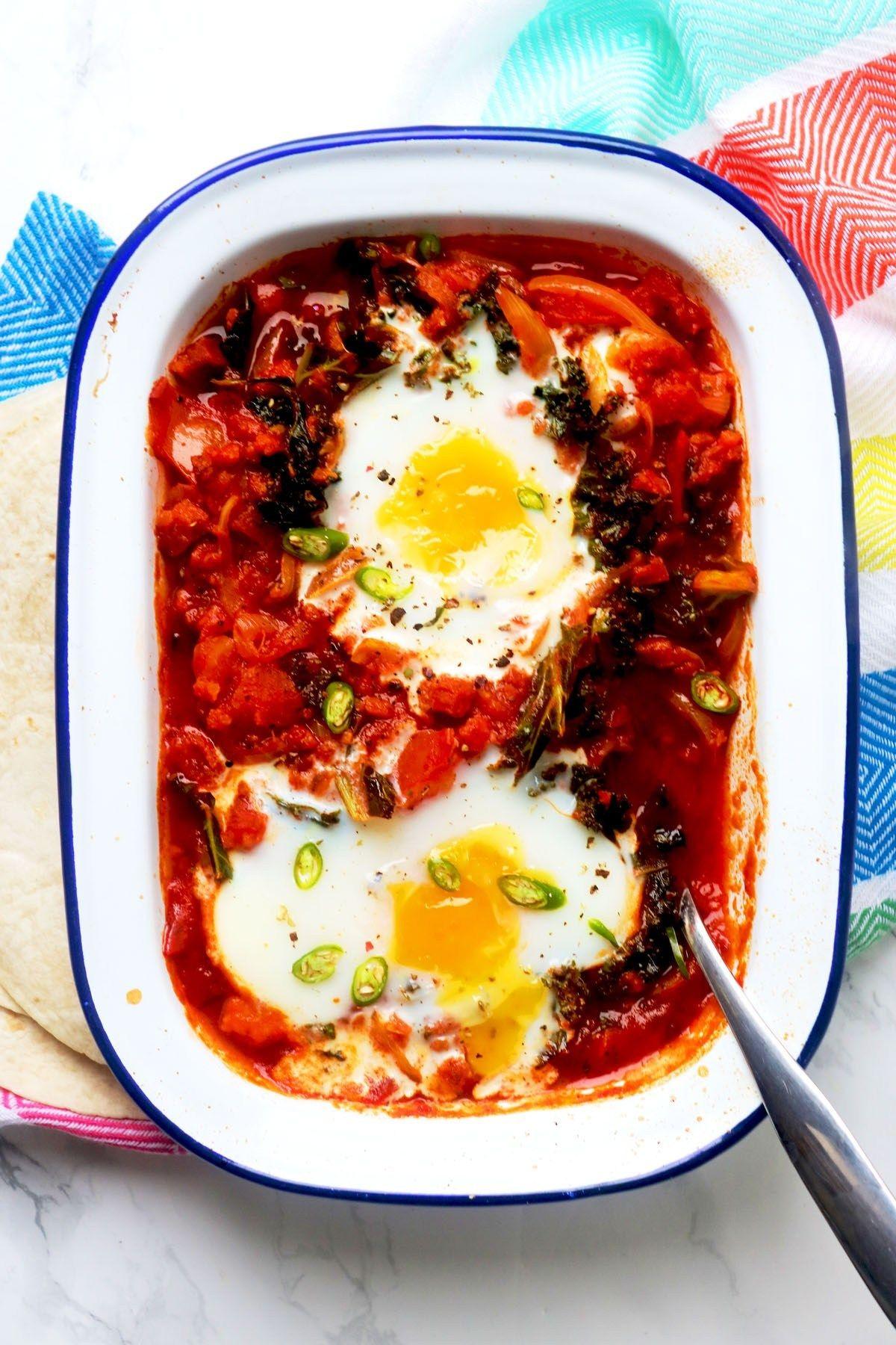 Huevos Rancheros (Spicy Mexican Eggs) Recipe Food