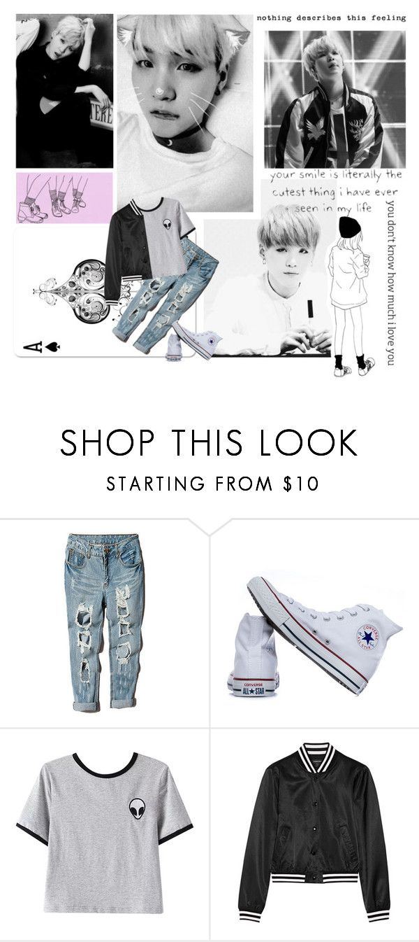 """""""Why why why kills"""" by emma-mae98 ❤ liked on Polyvore featuring Converse, Chicnova Fashion, R13 and kpoppeeps"""