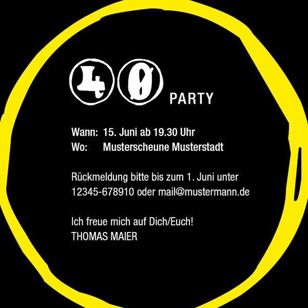 Einladungen   Einladung Zum 40. Geburtstag: 1975   Ein Designerstück Von  Individuelle Einladung