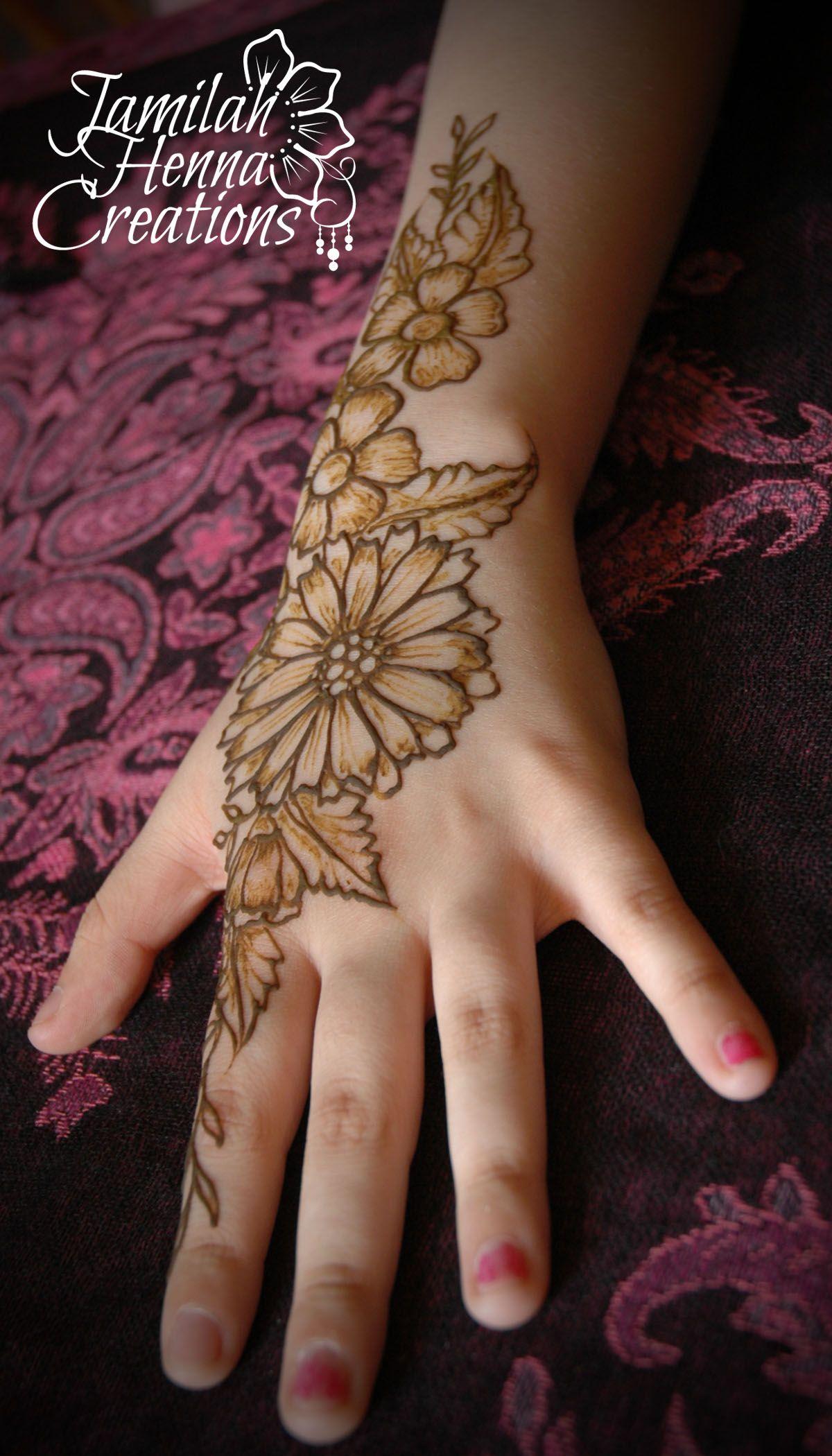 Sunflower Henna Tattoo: Sunflower Henna Www.jamilahhennacreations.com