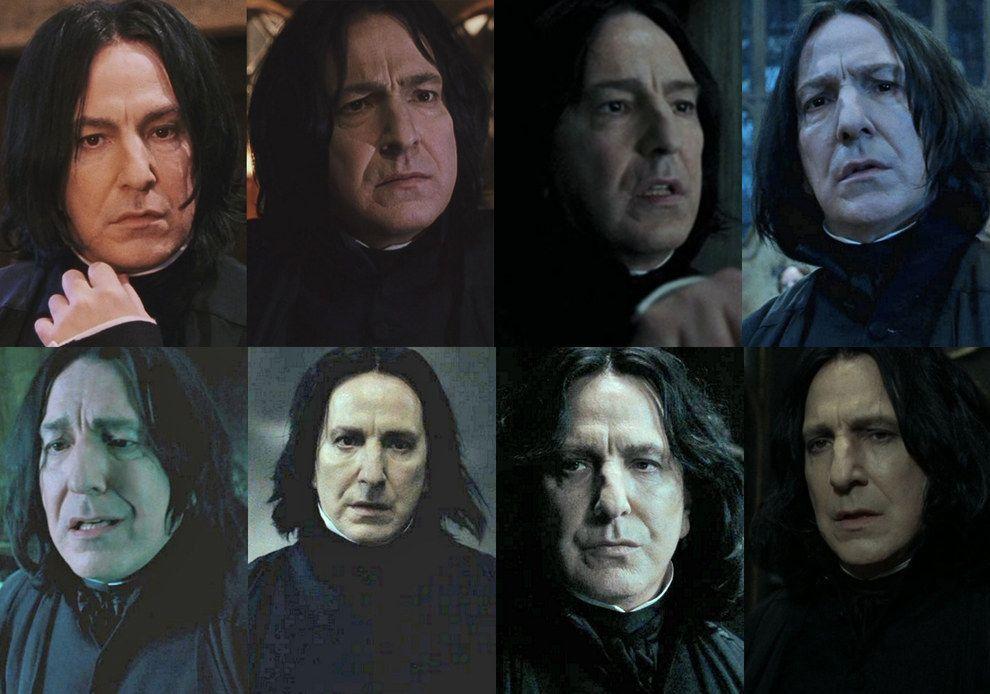 Severus Snape Alan Rickman Harry Potter Severus Snape Harry Potter Cast Harry Potter Severus