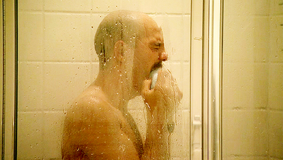 Tobias crying in the shower