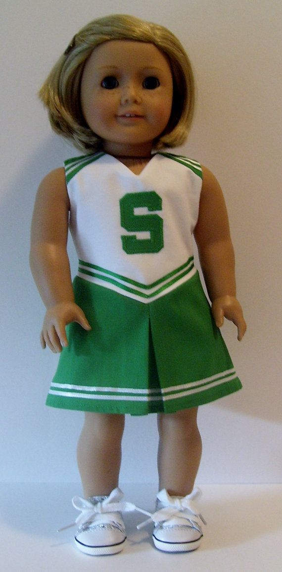 Cheerleader and tennis dress with visor sewing pattern for 18 dolls #18inchcheerleaderclothes