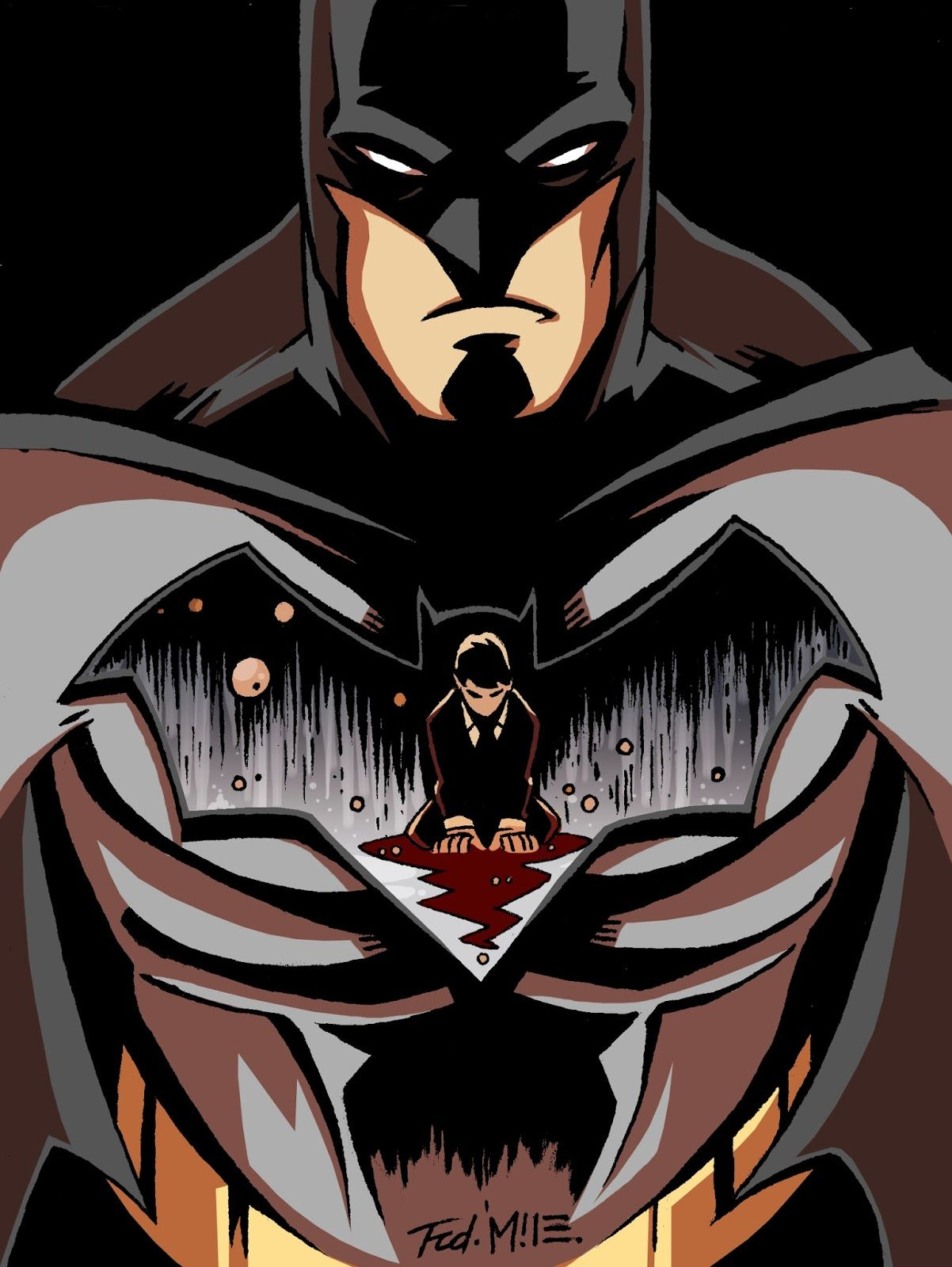 Batman by frederic wall batman batman je suis batman et personnage de fiction - Superman et batman dessin anime ...