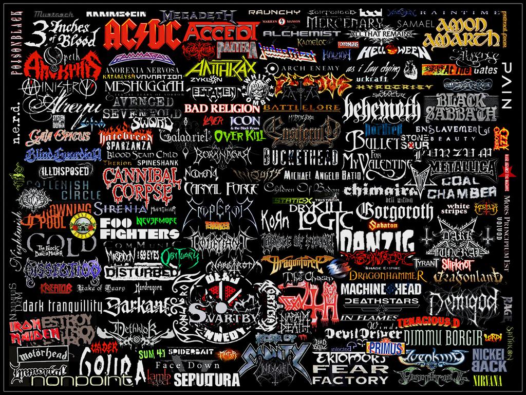 Rock Music Art Mostly Metal Logo Collage By Warzard On Deviantart Metallic Logo Heavy Metal Music Metal Band Logos