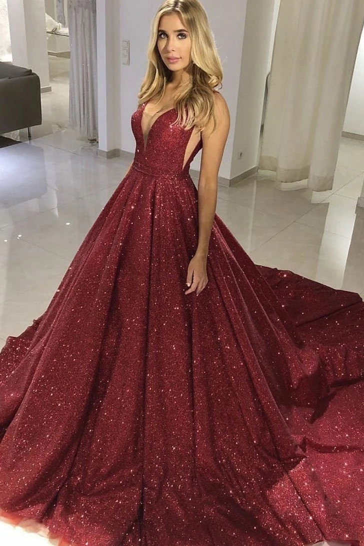 Sparkly Tight Long Ball Gown Sequin Shiny Burgundy Princess Prom Dresses M891 Long Prom Dresses Uk Prom Dresses Sleeveless Prom Dresses Uk