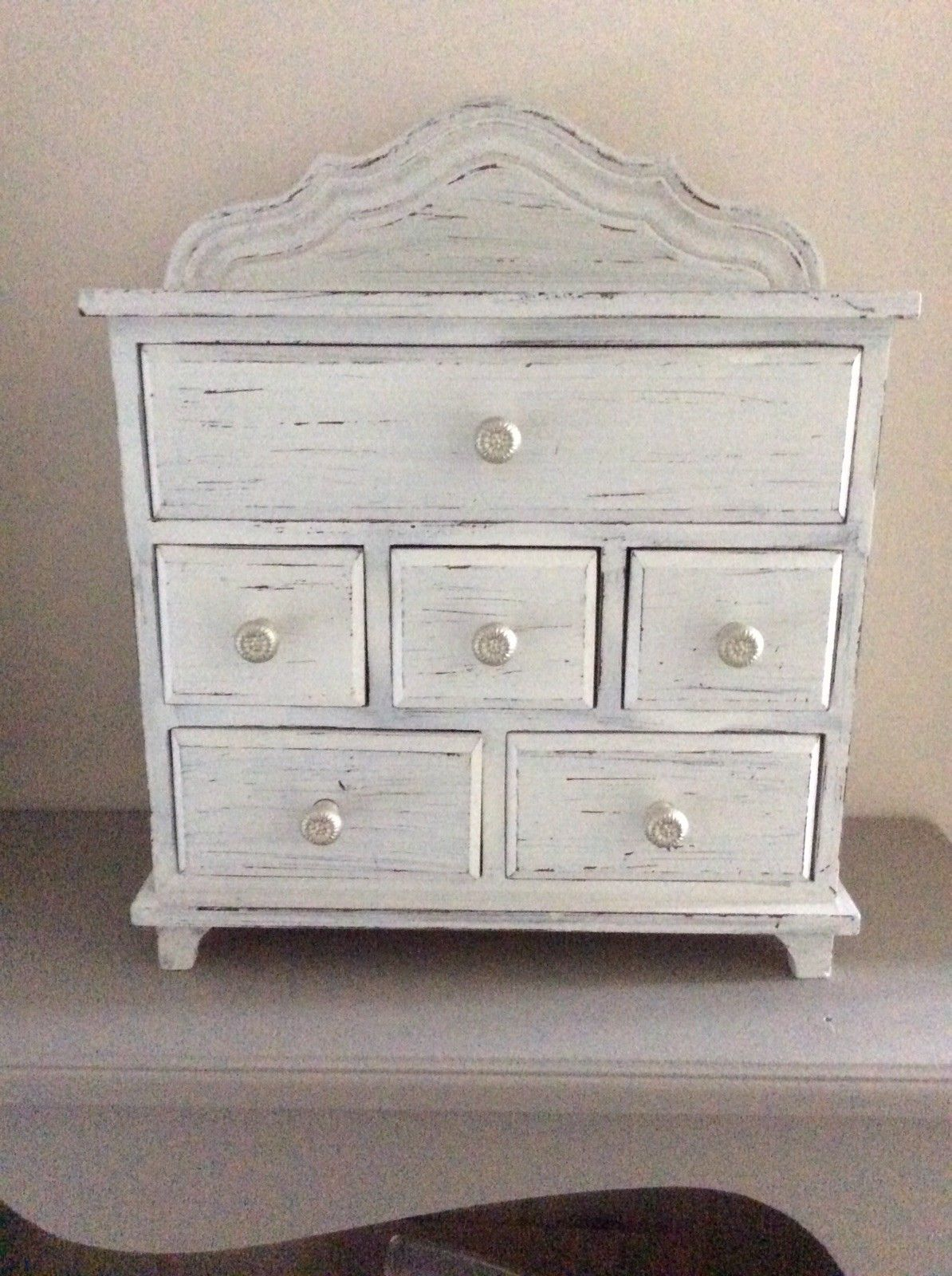 Best Small Next Grey Dressing Table Unit With Drawers Ebay 640 x 480