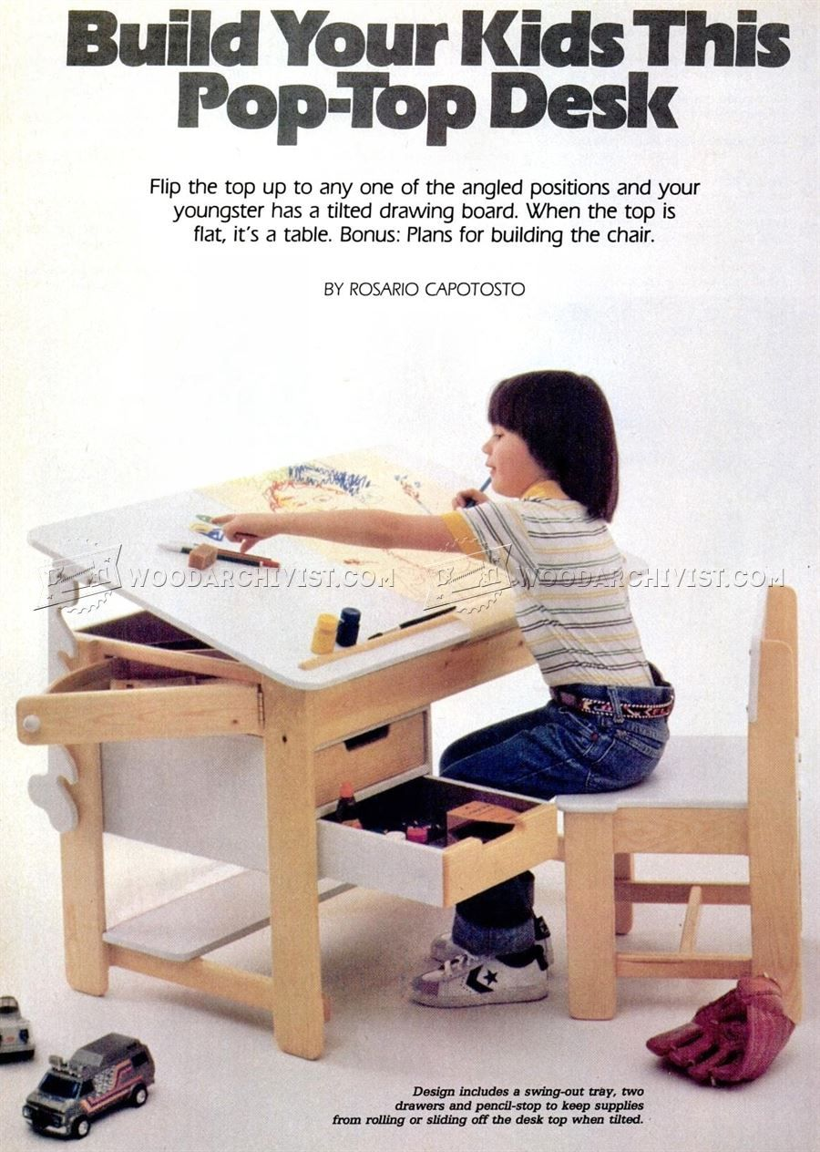 #1011 Kids Desk Plans   Childrenu0027s Furniture Plans