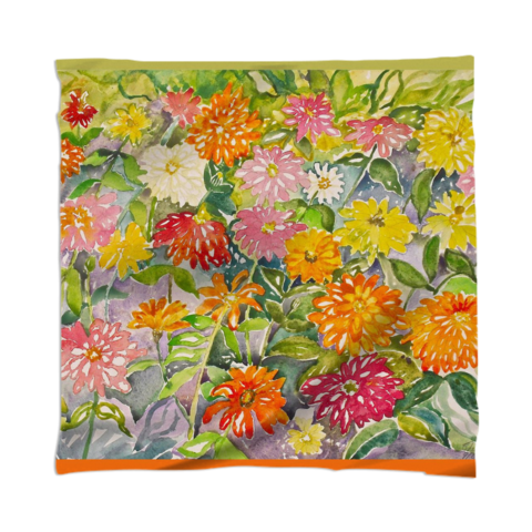 from an original watercolor painting by Sheila Bonser / This Scarf is a custom Design Object, powered by PrintAllOver.Me