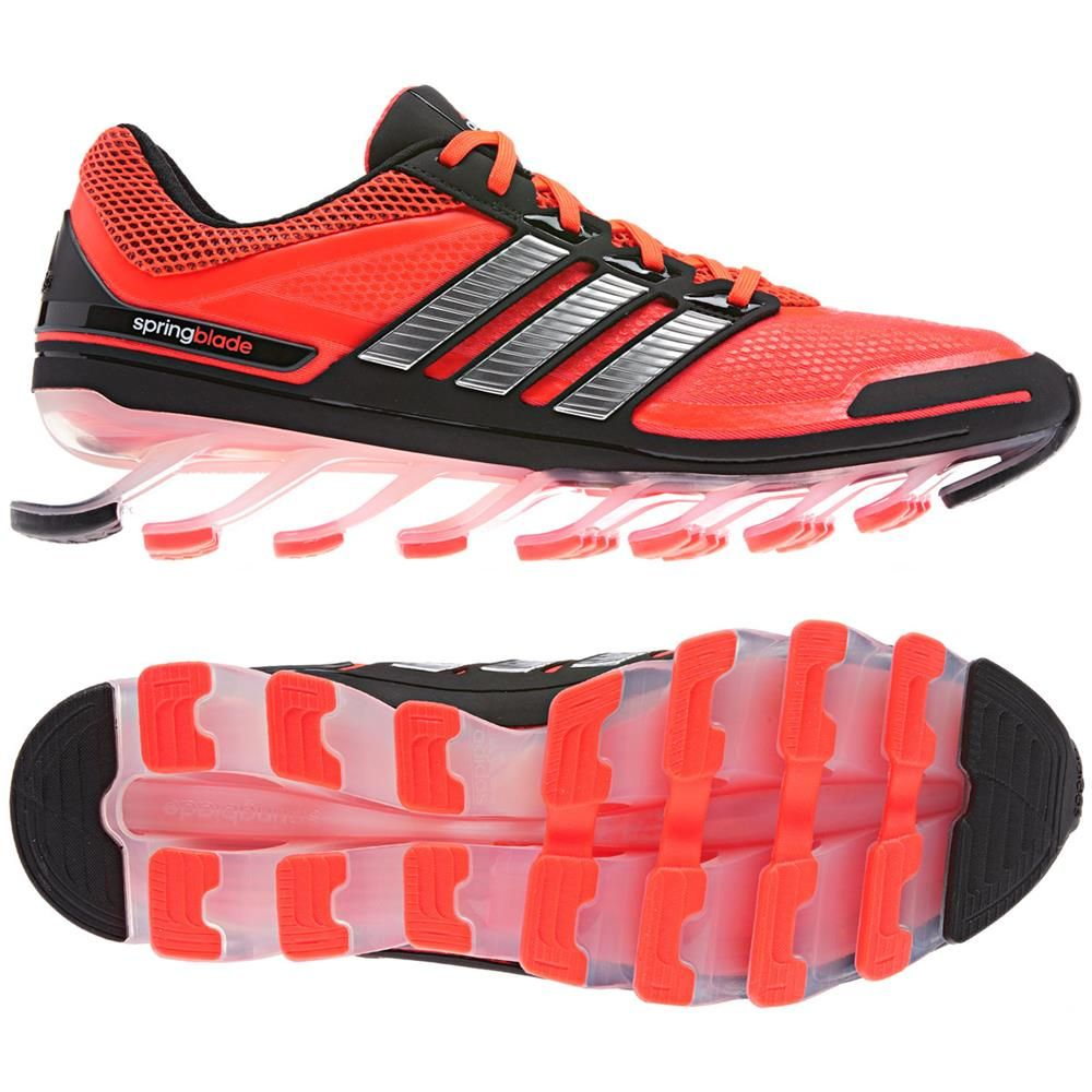 adidas Springblade is the only running shoe with blade technology designed  to help propel you forward. Springblade& 16 forward angled blades produce  one of ...