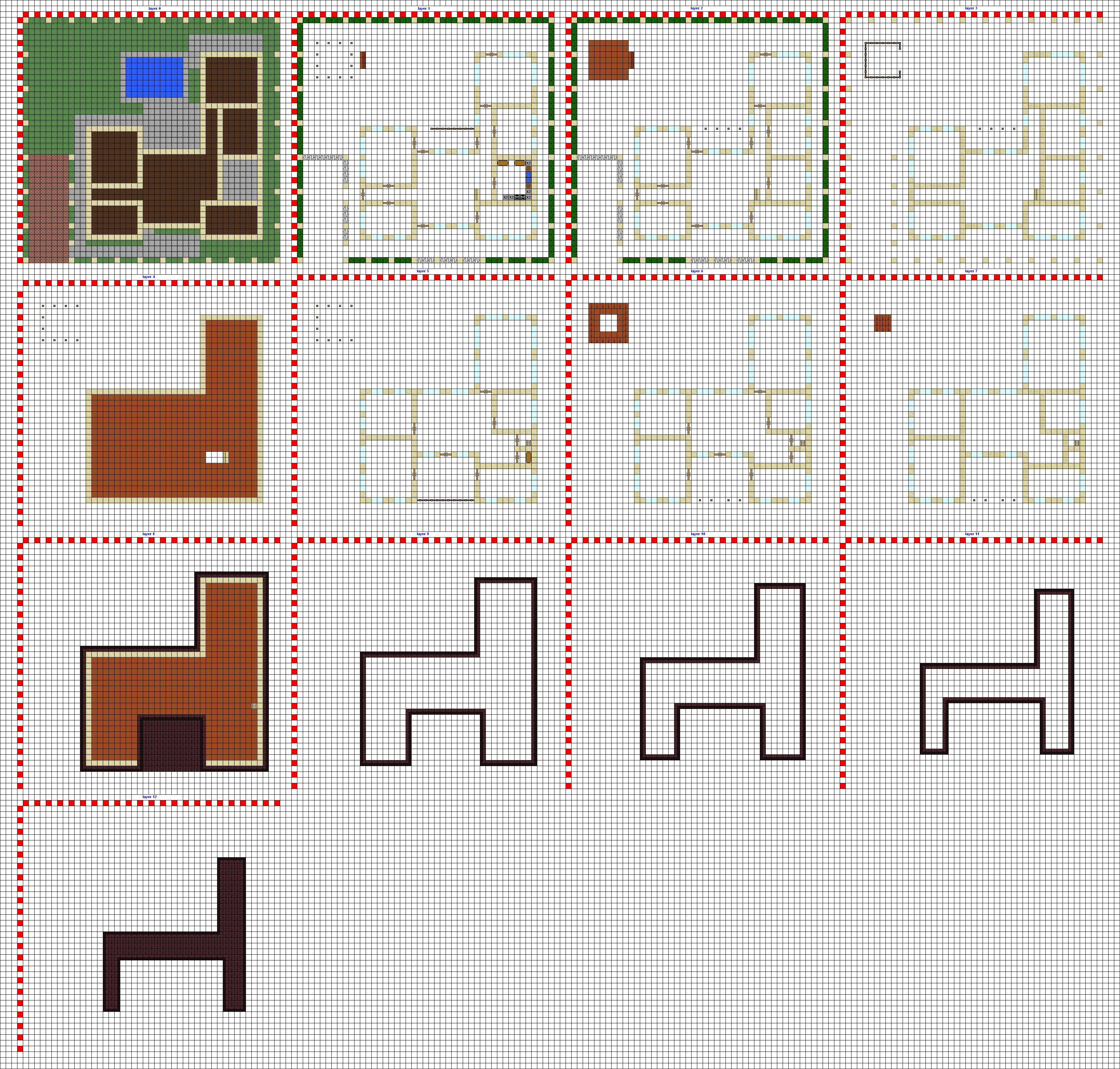 minecraft modern house blueprints layer by layer - Google ...