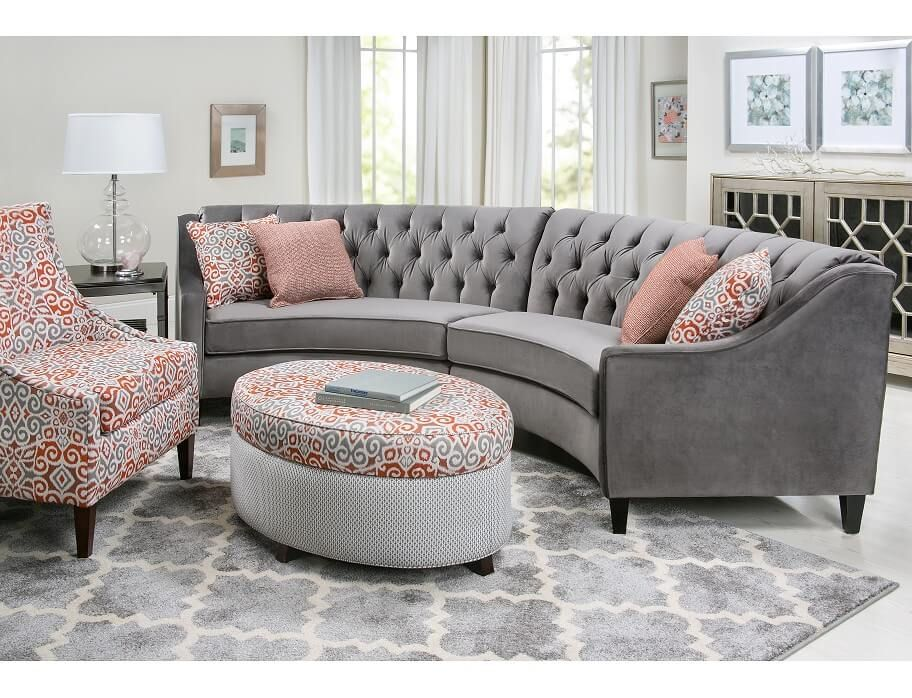 Slumberland Wollerton Collection 2pc Gray Sectional Living Room Decor Furniture Living Room Furniture Grey Sectional #slumberland #living #room #furniture