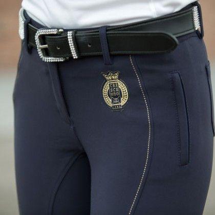 13e362bea0db Pantalon pour femmes Horze Crescendo Kiana - Bleu marin   Pantalon d ...