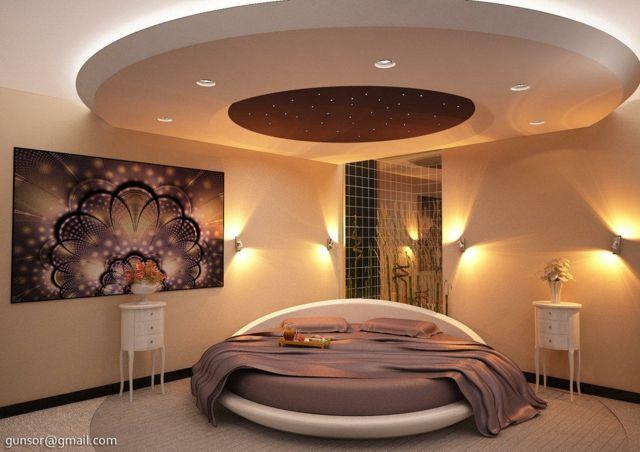 Une chambre adulte moderne et luxueuse