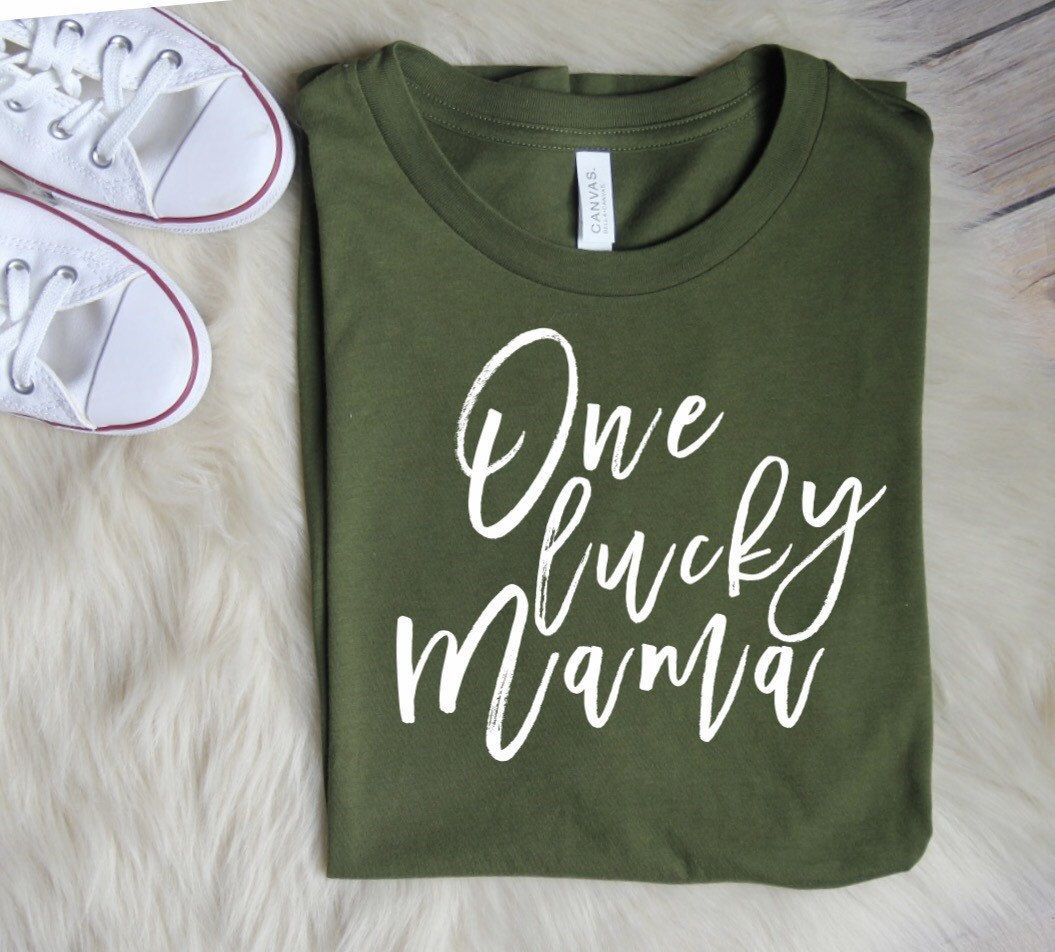 e38c05c62 ENDS AT 12AM One Lucky Mama // Saint Patricks Day Shirt, St.Patricks Day  Shirts, St Patricks Day Day Graphic Tee, Cupid, Mom Tee, Mom Shirts