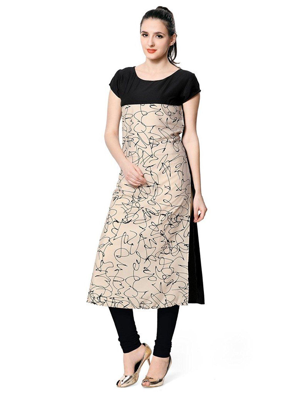 e16872c23194c Vaamsi Crepe Digital Printed Kurti  Amazon.in  Clothing   Accessories