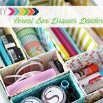 DIY Cereal Box Drawer Dividers | iheartorganizing DIY Organizing Tutorial