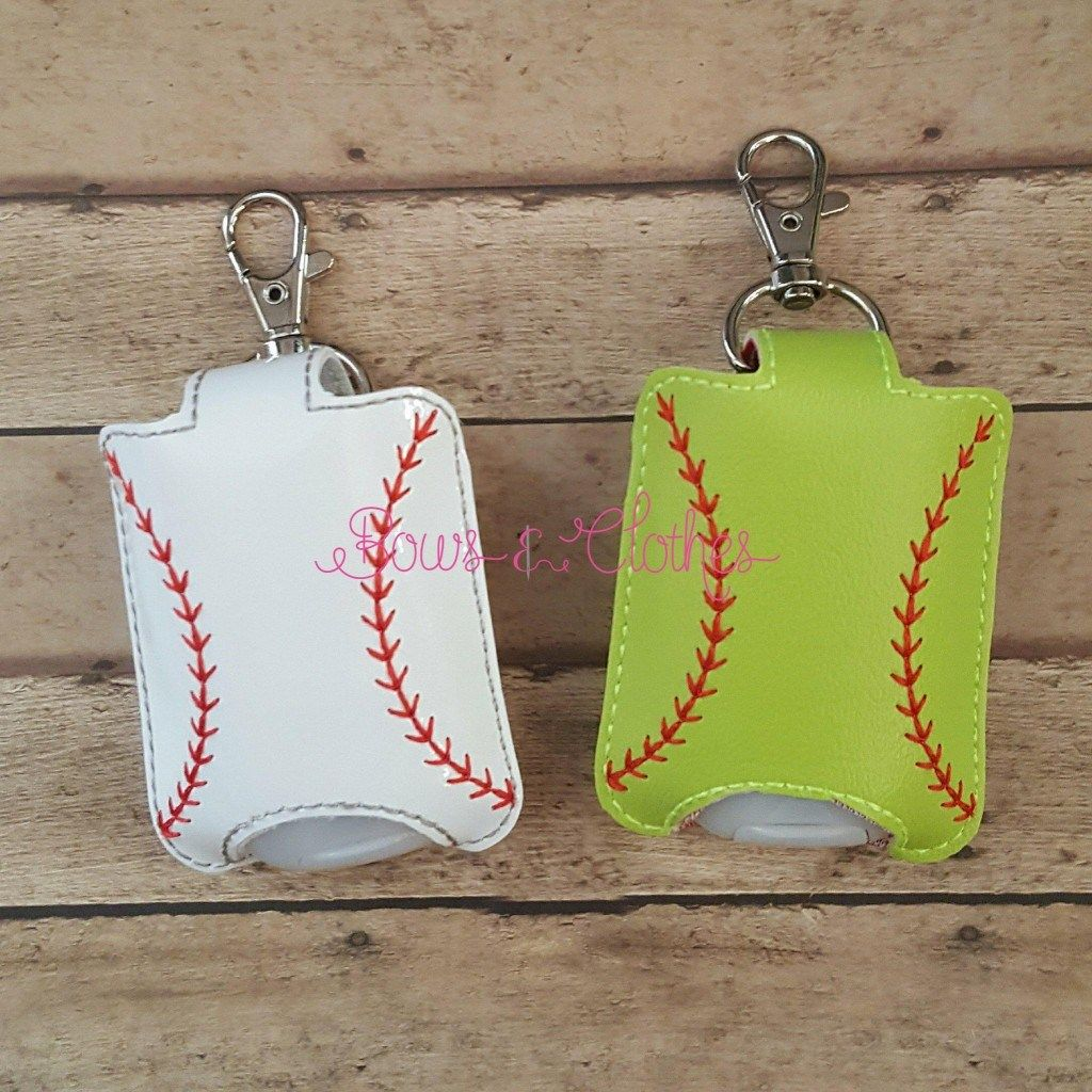 Baseball Hand Sanitizer Case Snap In Back Hand Sanitizer Hand