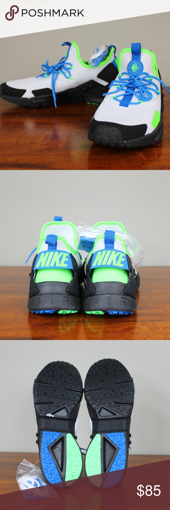 uk availability a85be 0c6f4 No rips or tears. No Stains. Smoke free. Ships carefully packaged and boxed  immediately. Nike Air Huarache Drift Scream Green AH7334 102 Men Size 9.5  ...