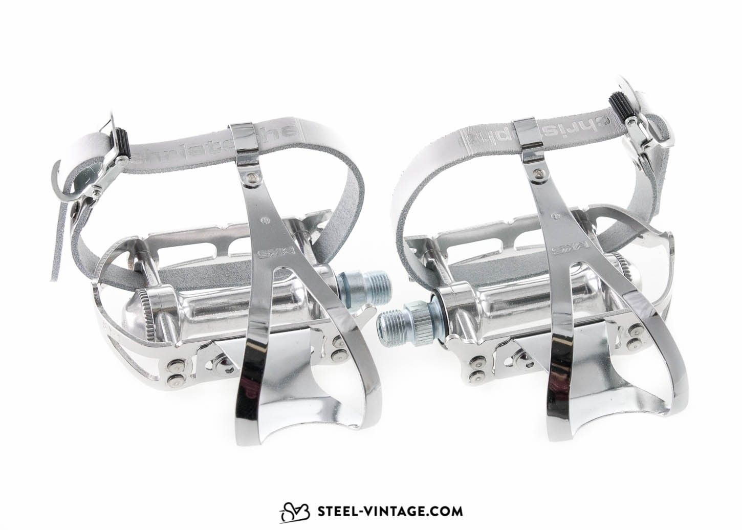 Steel Vintage Bikes Mks Sylvan Road Pedals With Toe Clips And