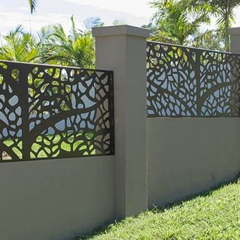 Aluminum Alloy Fence Panels For Garden As Decorative Hotel Metal
