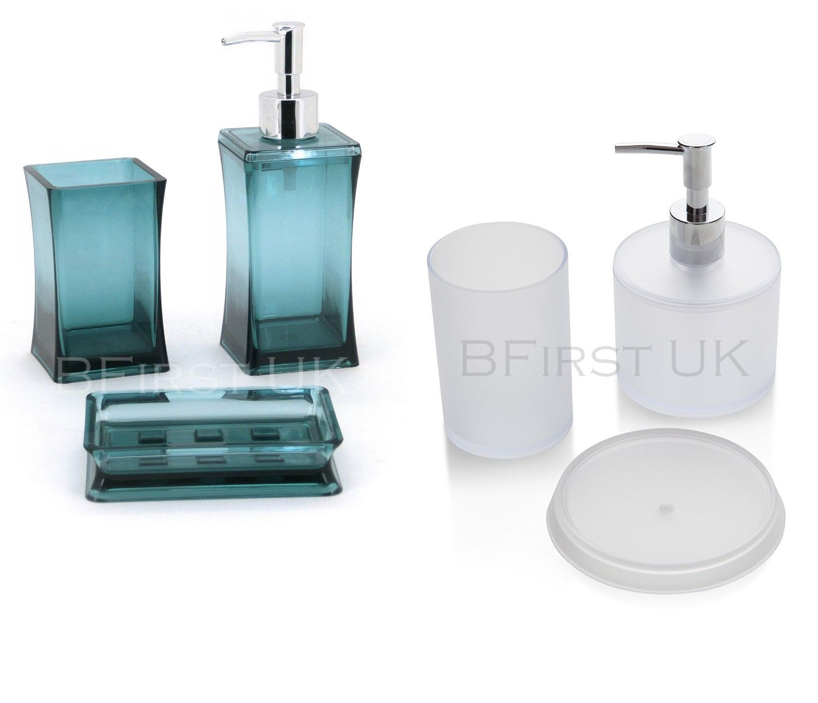 3Pc Roundsquare Bathroom #glass #chrome #accessory Set Tumbler Pleasing Chrome Bathroom Accessories Inspiration