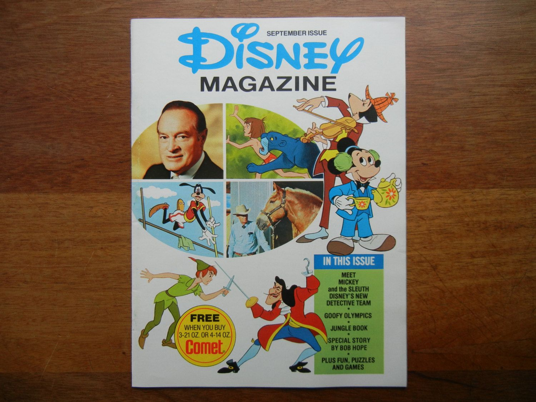 Disney Magazine September 1976 by ThomasCollectibles on Etsy