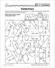 Common Denominator Worksheets  Fracii