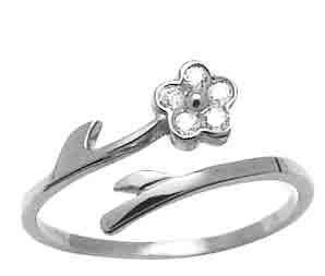 Blooming CZ Flower 14k White Gold Adjustable Women's Toe Ring FreshTrends. $105.60. Adjustable size. Made in the USA from Nickel-Free Solid 14k Gold.