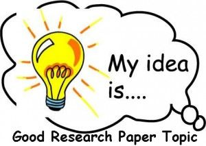 What would make a good topic for a research paper?