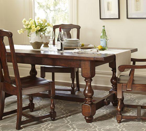 Cortona Fixed Dining Table Pottery Barn Dining Table