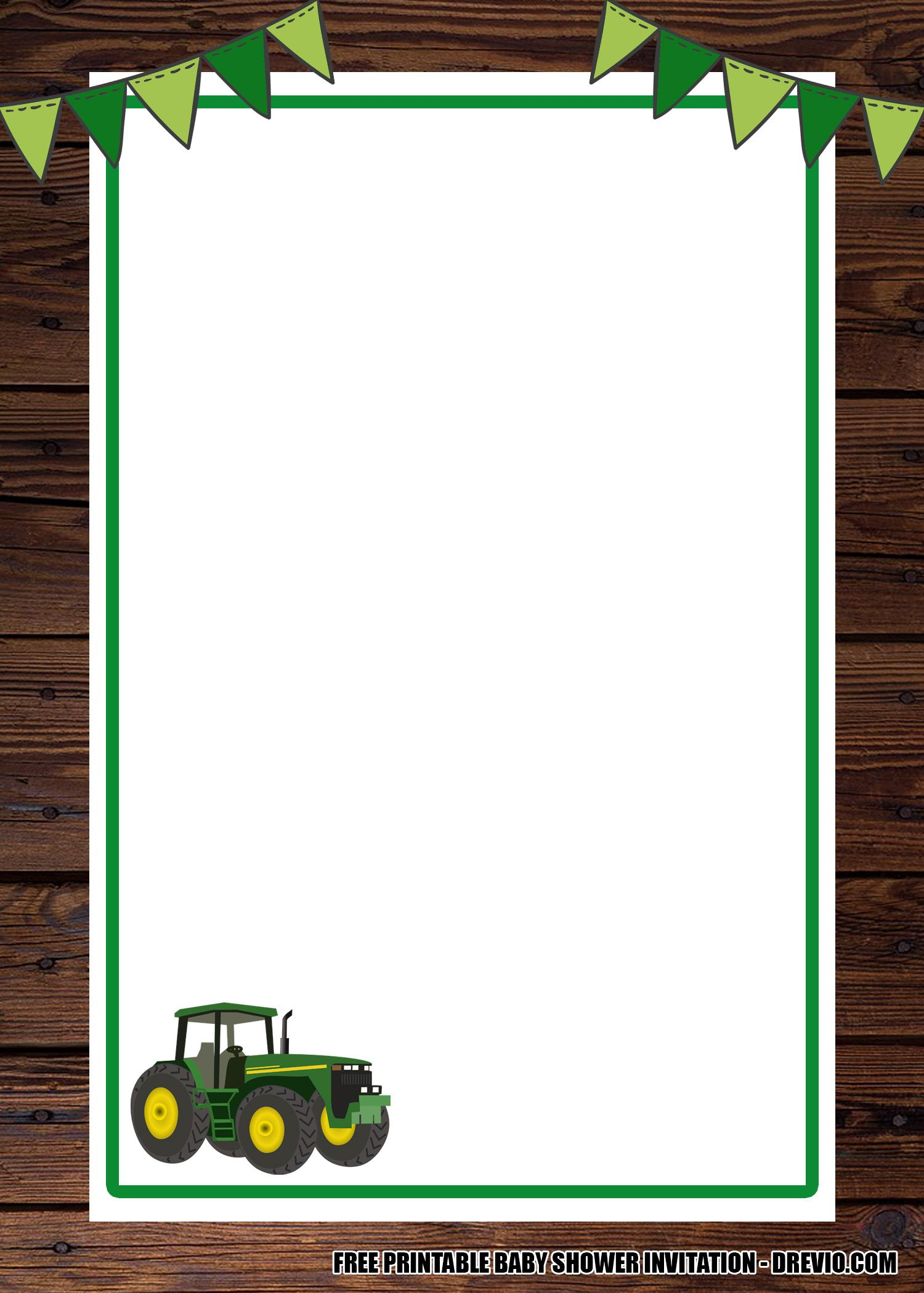 Free Printable Tractor Invitation Templates Tractor Birthday Party Happy Birthday Cards Printable Printable Birthday Invitations
