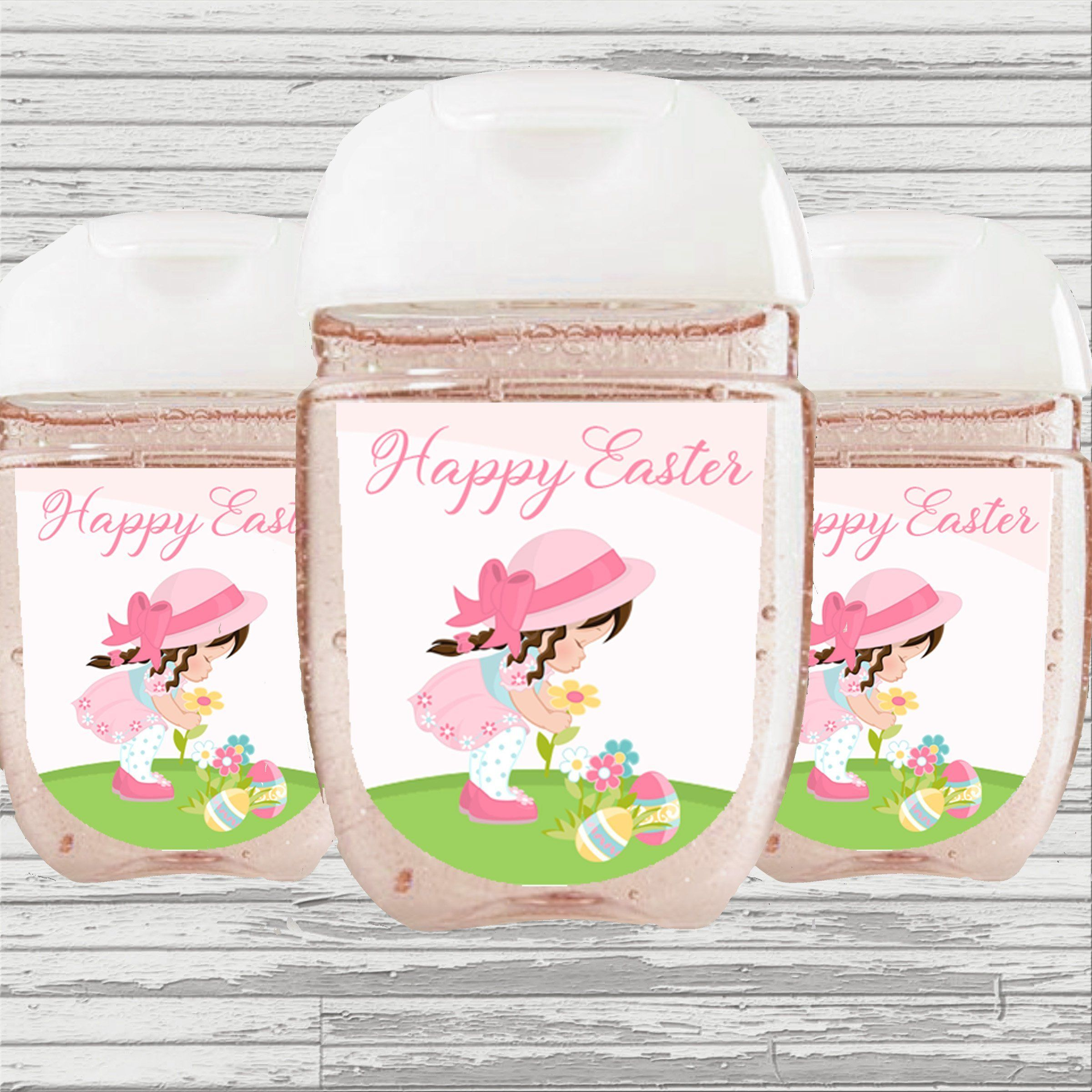 Easter Girl Themed Hand Sanitizer Label Hand Sanitizer