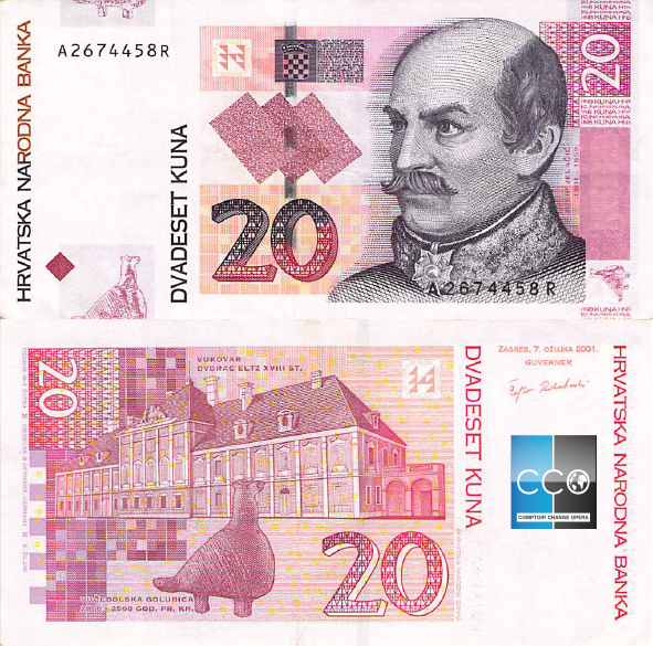 20 Hrk Bank Notes Currency Design Kuna
