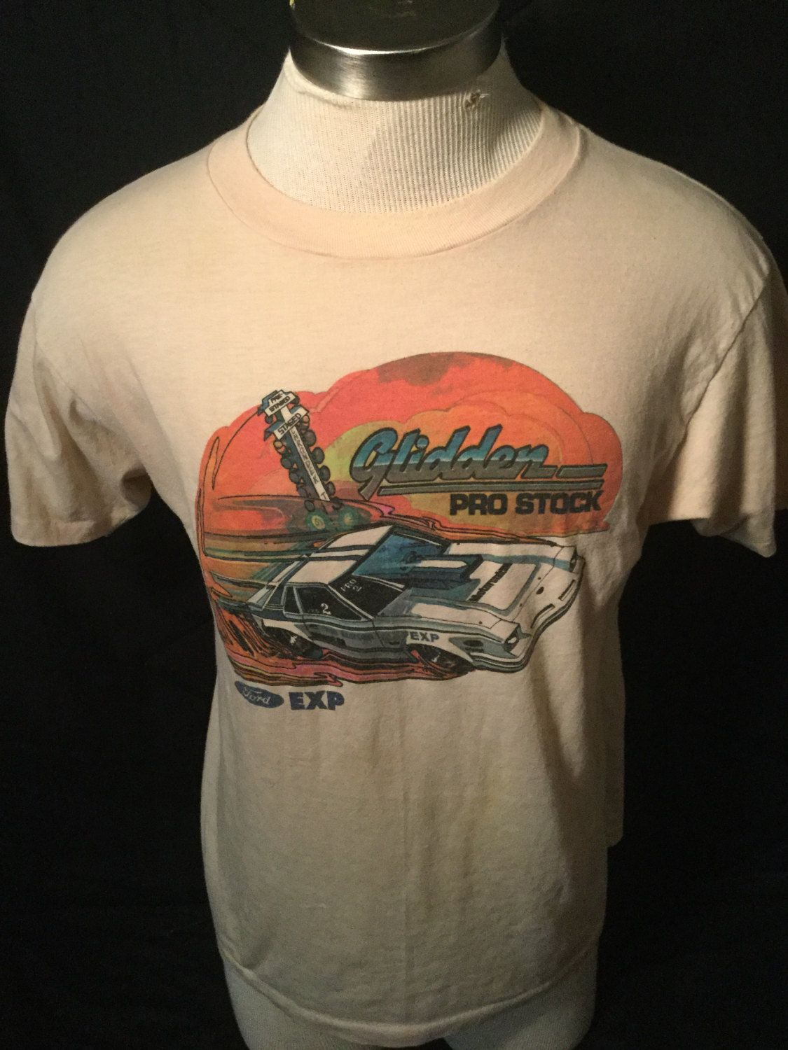 Vintage 1980 S Glidden Ford Racecar 50 50 T Shirt Great Colors Nascar Made In Usa By 413productions On Etsy Vintage Tshirts Mens Tops Mens Tshirts
